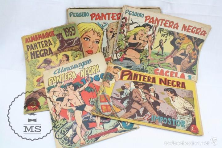 CONJUNTO DE 13 CÓMICS - PEQUEÑO PANTERA NEGRA. APAISADO + ALMANAQUES 1959 Y 1960 - ED. MAGA, AÑOS 50 (Tebeos y Comics - Maga - Pantera Negra)