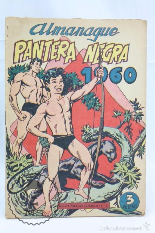 Tebeos: Conjunto de 13 Cómics - Pequeño Pantera Negra. Apaisado + Almanaques 1959 y 1960 - Ed. Maga, Años 50 - Foto 4 - 57946068