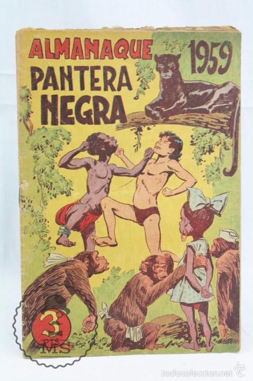Tebeos: Conjunto de 13 Cómics - Pequeño Pantera Negra. Apaisado + Almanaques 1959 y 1960 - Ed. Maga, Años 50 - Foto 8 - 57946068