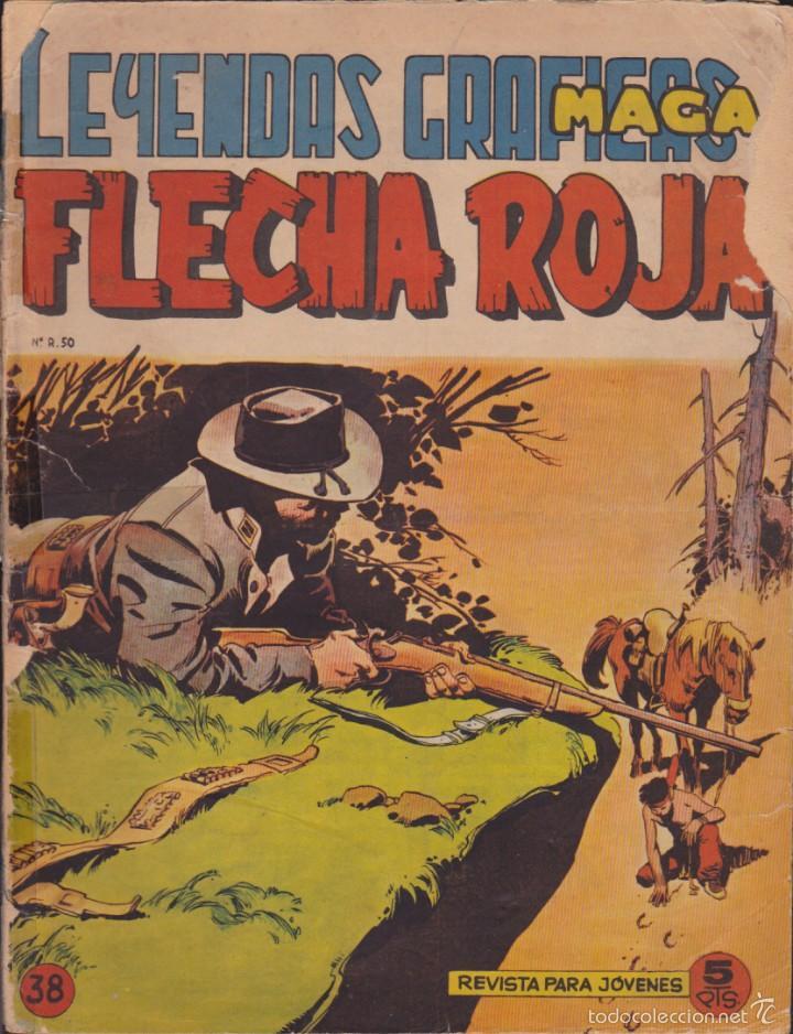 COMIC COLECCION FLECHA ROJA REVISTA Nº 38 (Tebeos y Comics - Maga - Flecha Roja)