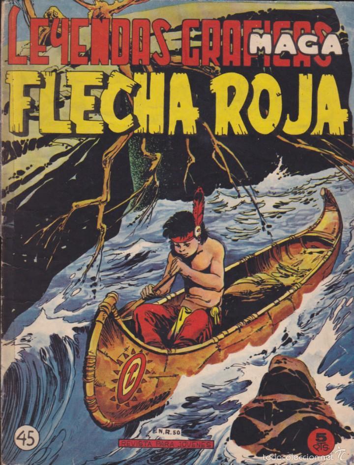 COMIC COLECCION FLECHA ROJA REVISTA Nº 45 (Tebeos y Comics - Maga - Flecha Roja)