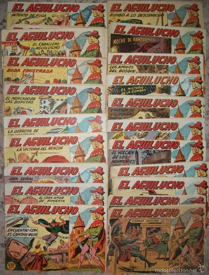 EL AGUILUCHO (MAGA) (LOTE DE 50 NUMEROS DIFERENTES) (Tebeos y Comics - Maga - Otros)