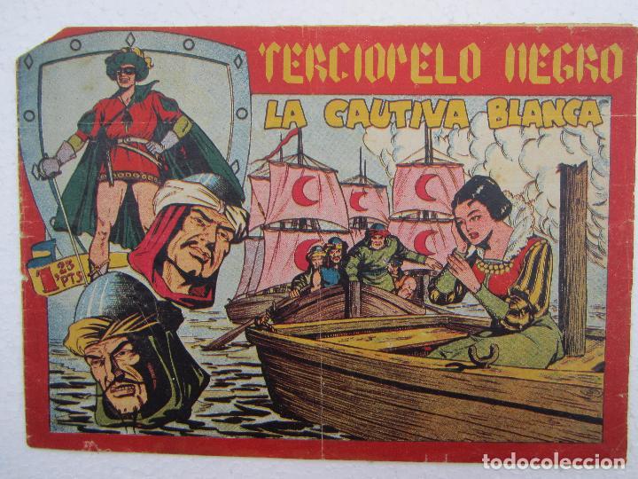TERCIOPELO NEGRO , N, 21 , LA CAUTIVA BLANCA , MAGA , 1954 (Tebeos y Comics - Maga - Otros)