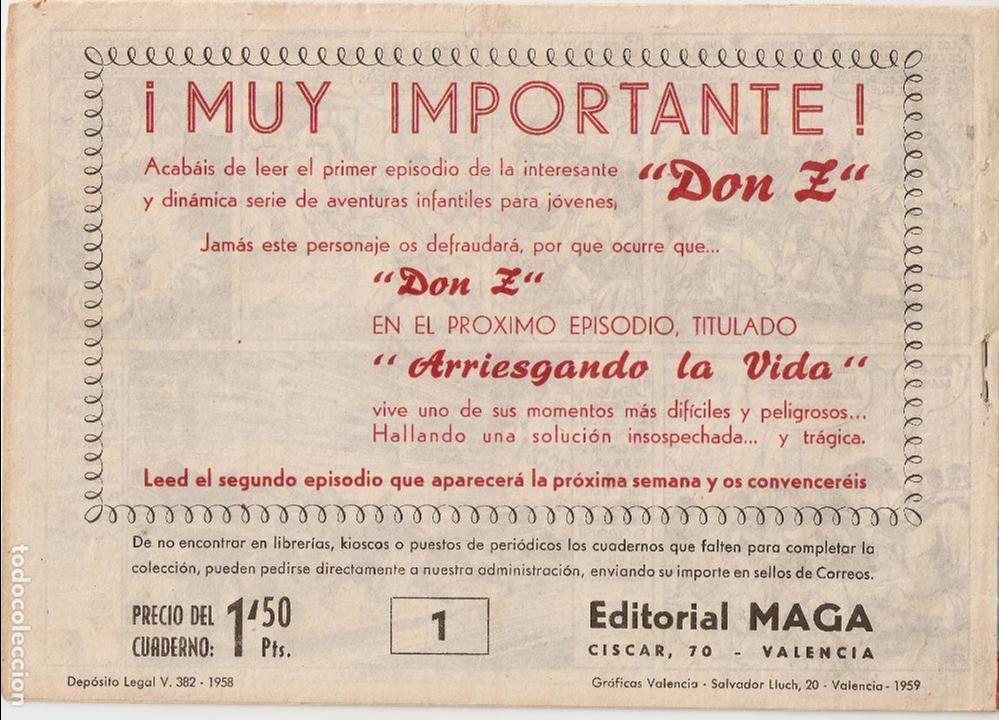 Tebeos: Don Z. Año 1.959. Lote de 52. Tebeos Originales Nuevos. - Foto 4 - 61869800