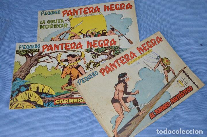 LOTE - PEQUEÑO PANTERA NEGRA - NÚMEROS 180, 183 Y 184 - EDITORIAL MAGA - ORIGINALES - AÑOS 50/60 (Tebeos y Comics - Maga - Pantera Negra)