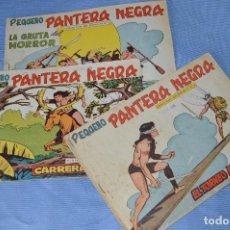 Tebeos: LOTE - PEQUEÑO PANTERA NEGRA - NÚMEROS 180, 183 Y 184 - EDITORIAL MAGA - ORIGINALES - AÑOS 50/60. Lote 228957980