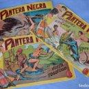 Tebeos: LOTE - PANTERA NEGRA - NÚMEROS 17, 40 Y 43 - EDITORIAL MAGA - ORIGINALES - AÑOS 50/60. Lote 63096316