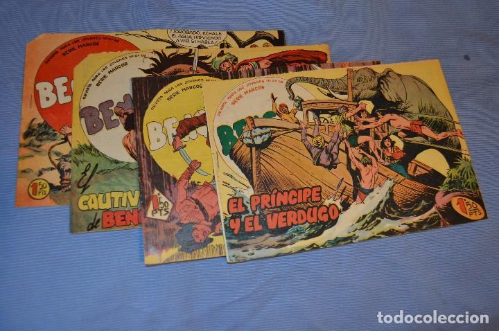 LOTE - BENGALA - EDITORIAL MAGA - NÚM. 38, 41, 43 Y 45 - ORIGINALES, BUEN ESTADO - AÑOS 50/60 (Tebeos y Comics - Maga - Bengala)