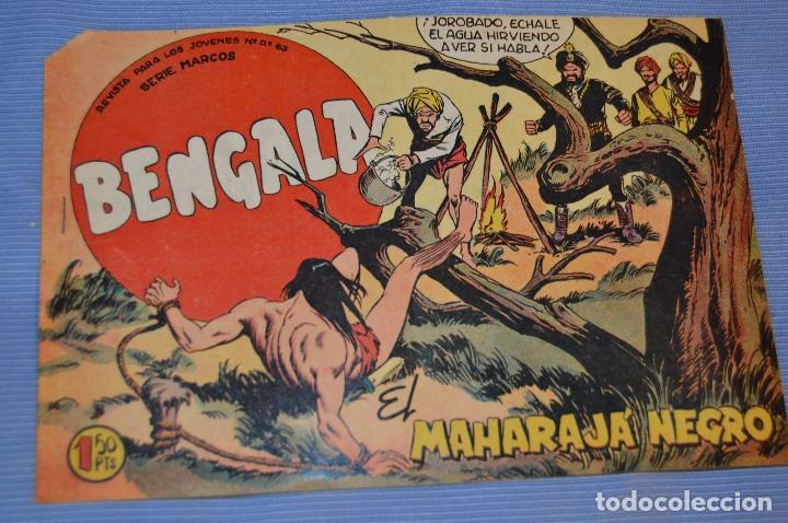 Tebeos: LOTE - BENGALA - Editorial MAGA - NÚM. 38, 41, 43 y 45 - Originales, buen estado - Años 50/60 - Foto 2 - 63132288