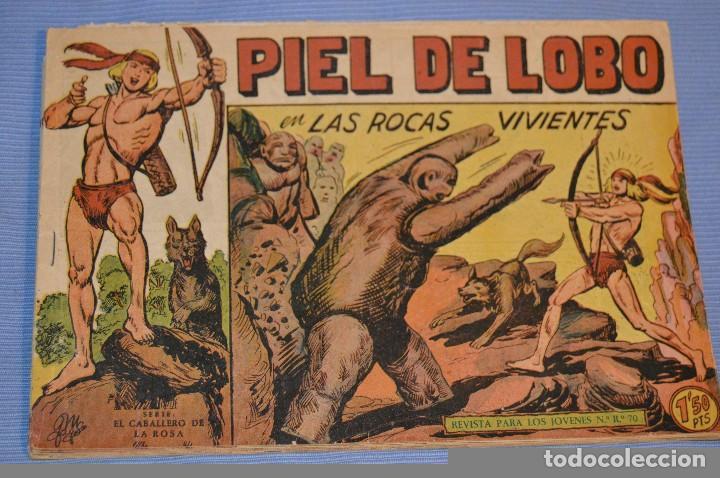 PIEL DE LOBO - EDITORIAL MAGA - NÚM. 35 - ORIGINAL, BUEN ESTADO - AÑOS 50/60 ¡MIRA FOTOS/DETALLES! (Tebeos y Comics - Maga - Piel de Lobo)