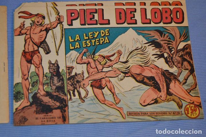 PIEL DE LOBO - EDITORIAL MAGA - NÚM. 34 - ORIGINAL, BUEN ESTADO - AÑOS 50/60 ¡MIRA FOTOS/DETALLES! (Tebeos y Comics - Maga - Piel de Lobo)