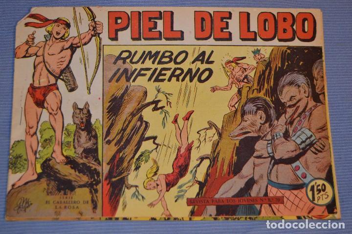 PIEL DE LOBO - EDITORIAL MAGA - NÚM. 23 - ORIGINAL, BUEN ESTADO - AÑOS 50/60 ¡MIRA FOTOS/DETALLES! (Tebeos y Comics - Maga - Piel de Lobo)