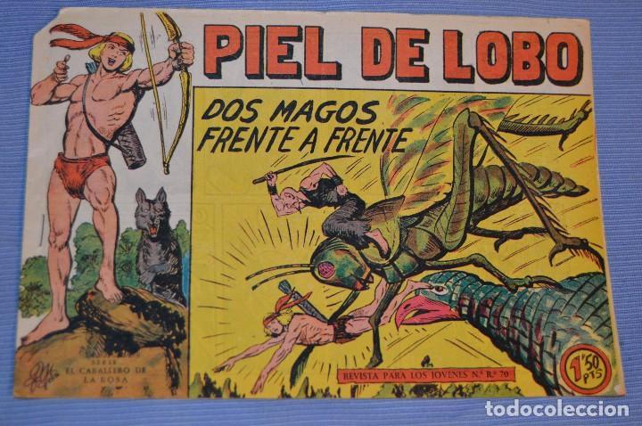 PIEL DE LOBO - EDITORIAL MAGA - NÚM. 22 - ORIGINAL, BUEN ESTADO - AÑOS 50/60 ¡MIRA FOTOS/DETALLES! (Tebeos y Comics - Maga - Piel de Lobo)