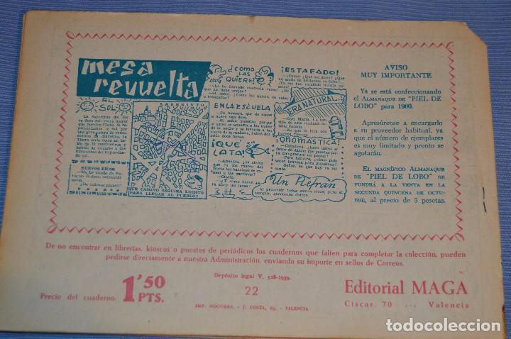 Tebeos: PIEL DE LOBO - Editorial MAGA - NÚM. 22 - Original, buen estado - Años 50/60 ¡MIRA FOTOS/DETALLES! - Foto 2 - 63147228