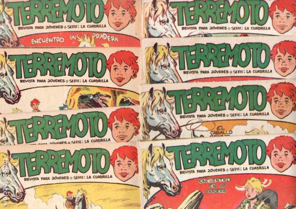 TERREMOTO - SERIE LA CUADRILLA, COMPLETA ORIGINAL , MAGA 1962 1 AL 25, MUY BIEN CONSERVADA (Tebeos y Comics - Maga - Otros)