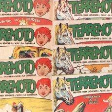 Tebeos: TERREMOTO - SERIE LA CUADRILLA, COMPLETA ORIGINAL , MAGA 1962 1 AL 25, MUY BIEN CONSERVADA. Lote 64174963