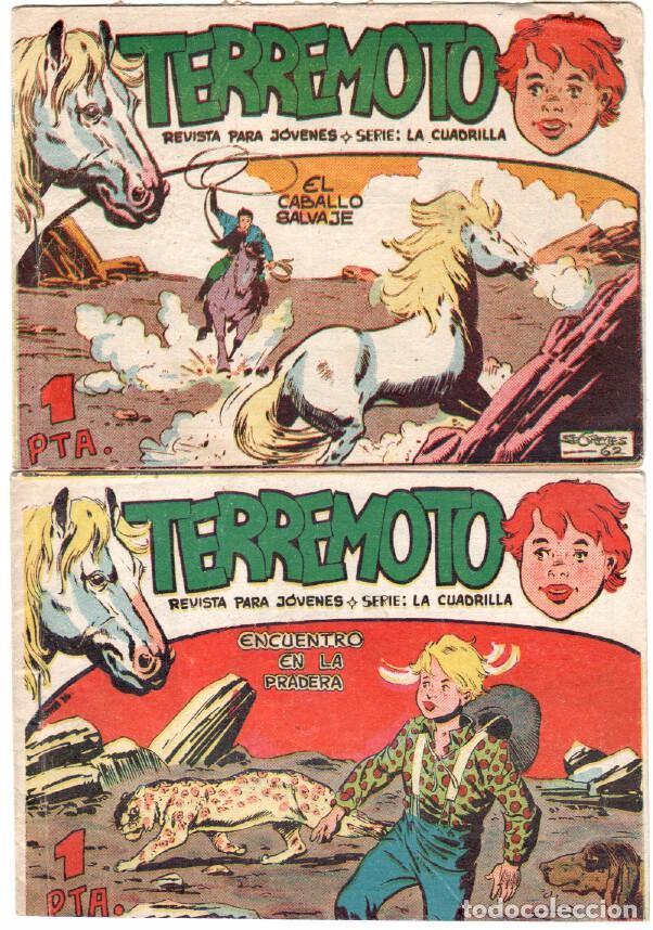 Tebeos: TERREMOTO - SERIE LA CUADRILLA, COMPLETA ORIGINAL , MAGA 1962 1 AL 25, MUY BIEN CONSERVADA - Foto 2 - 64174963