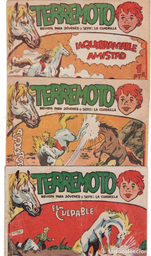Tebeos: TERREMOTO - SERIE LA CUADRILLA, COMPLETA ORIGINAL , MAGA 1962 1 AL 25, MUY BIEN CONSERVADA - Foto 3 - 64174963