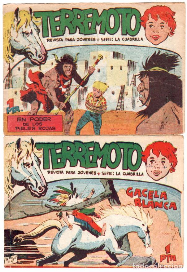 Tebeos: TERREMOTO - SERIE LA CUADRILLA, COMPLETA ORIGINAL , MAGA 1962 1 AL 25, MUY BIEN CONSERVADA - Foto 8 - 64174963