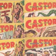 Tebeos: CASTOR COMPLETA ORIGINAL, EDI. MAGA 1962 - LOTE 41 TEBEOS, VER TODAS LAS PORTADAS. Lote 64186239