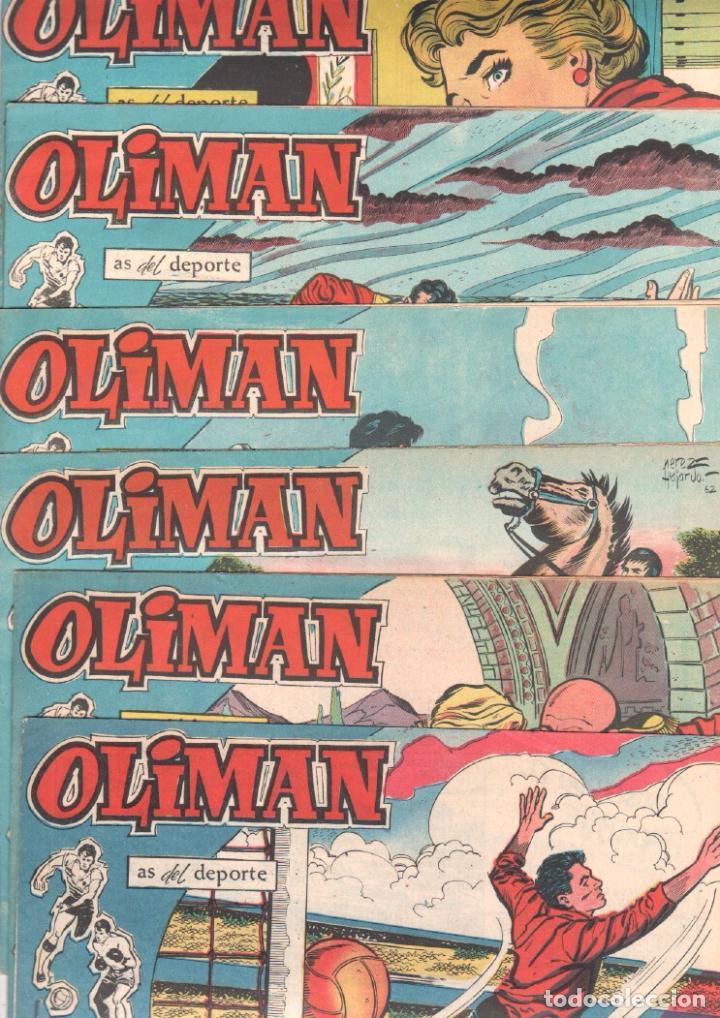 OLIMAN AS DEL DEPORTE ORIGINALES SIN ABRIR,LOTE - 57,59,60,61,65,74,CONTRAPORTADAS LAMINAS DE FUTBOL (Tebeos y Comics - Maga - Oliman)