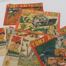 Tebeos: LOTE 4 COMIC, TONY Y ANITA LOS ASES DEL CIRCO, Nº 29, 39,61 Y 146, MAGA, 1960. Lote 66768346