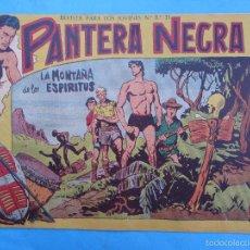 Tebeos: PANTERA NEGRA , N.7 , LA MONTAÑA DE LOS ESPIRITUS , MAGA 1958. Lote 201622388