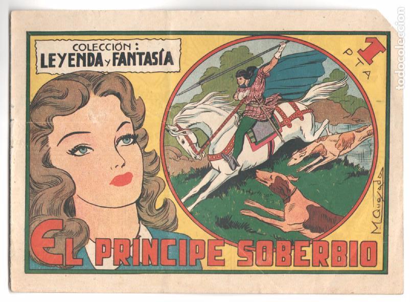 COLECCION LEYENDA Y FANTASÍA ORIGINAL Nº 8 - MIGUEL QUESADA - EL PRÍNCIPE SOBERBIO - MUY BUENO (Tebeos y Comics - Maga - Otros)