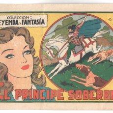 Tebeos: COLECCION LEYENDA Y FANTASÍA ORIGINAL Nº 8 - MIGUEL QUESADA - EL PRÍNCIPE SOBERBIO - MUY BUENO. Lote 68786869