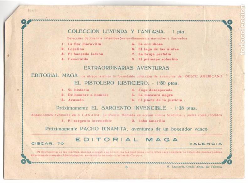 Tebeos: COLECCION LEYENDA Y FANTASÍA ORIGINAL Nº 8 - MIGUEL QUESADA - EL PRÍNCIPE SOBERBIO - MUY BUENO - Foto 2 - 68786869