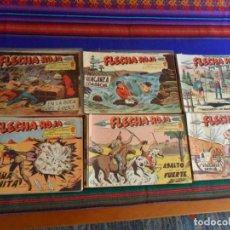 Tebeos: FLECHA ROJA COMPLETA ORIGINAL 79 NºS A FALTA DE 65 72 73 78. MAGA 1962. BUEN ESTADO.. Lote 69827597