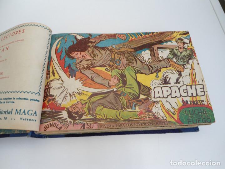 Tebeos: APACHE 2ª PARTE - 73 números correlativos ORIGINALES - Ed. MAGA 1958 - Foto 2 - 72137395