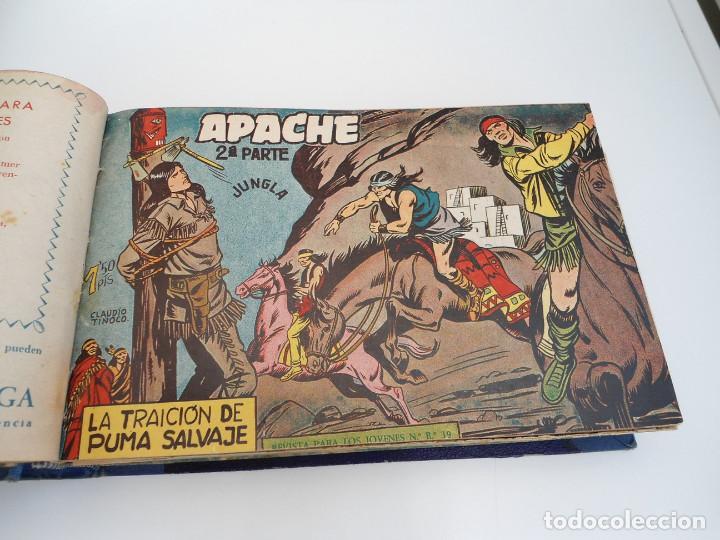 Tebeos: APACHE 2ª PARTE - 73 números correlativos ORIGINALES - Ed. MAGA 1958 - Foto 9 - 72137395