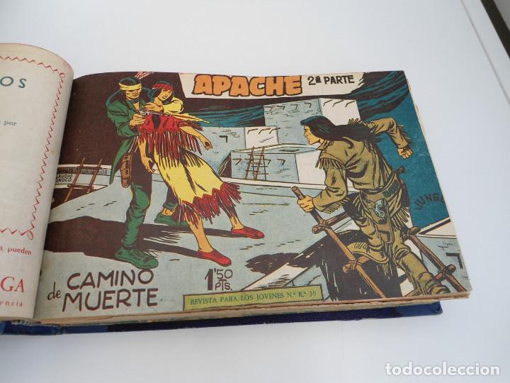 Tebeos: APACHE 2ª PARTE - 73 números correlativos ORIGINALES - Ed. MAGA 1958 - Foto 10 - 72137395