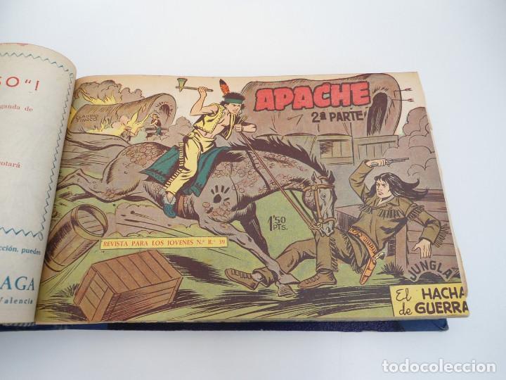 Tebeos: APACHE 2ª PARTE - 73 números correlativos ORIGINALES - Ed. MAGA 1958 - Foto 19 - 72137395
