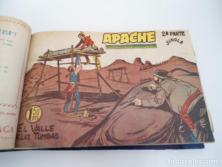 Tebeos: APACHE 2ª PARTE - 73 números correlativos ORIGINALES - Ed. MAGA 1958 - Foto 20 - 72137395
