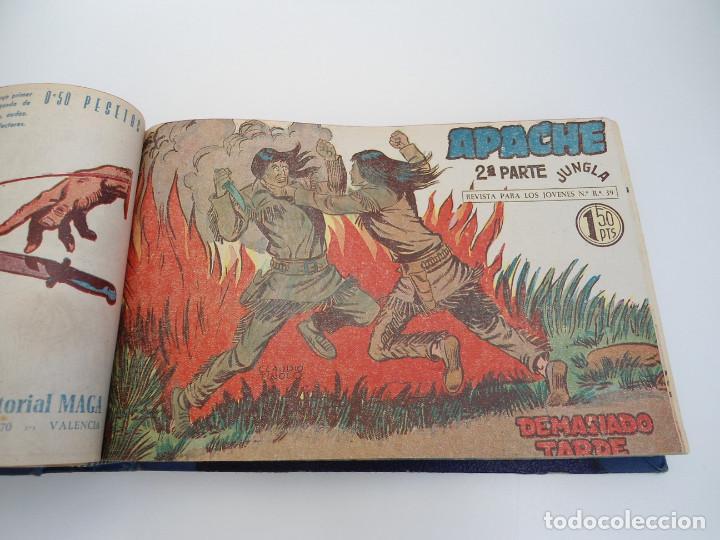 Tebeos: APACHE 2ª PARTE - 73 números correlativos ORIGINALES - Ed. MAGA 1958 - Foto 26 - 72137395