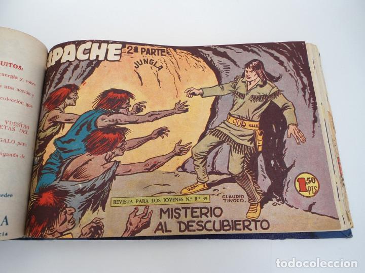 Tebeos: APACHE 2ª PARTE - 73 números correlativos ORIGINALES - Ed. MAGA 1958 - Foto 37 - 72137395
