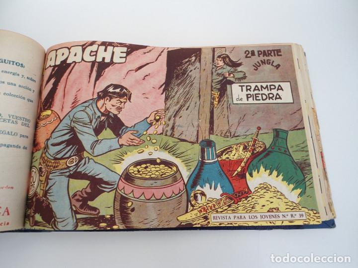 Tebeos: APACHE 2ª PARTE - 73 números correlativos ORIGINALES - Ed. MAGA 1958 - Foto 38 - 72137395