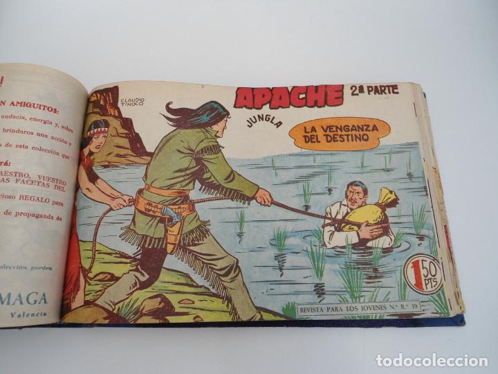 Tebeos: APACHE 2ª PARTE - 73 números correlativos ORIGINALES - Ed. MAGA 1958 - Foto 39 - 72137395