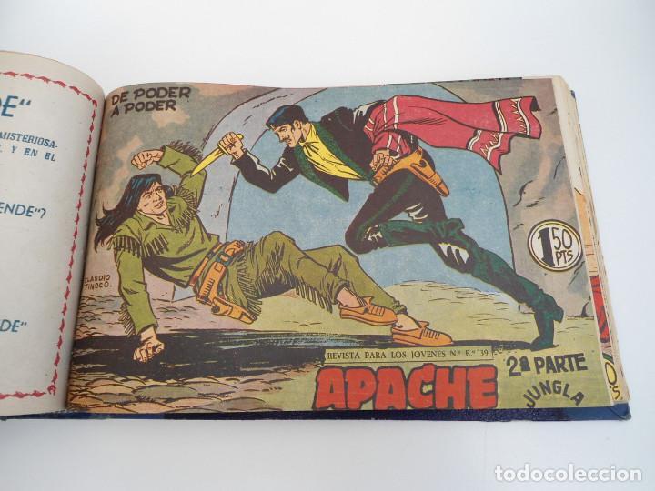 Tebeos: APACHE 2ª PARTE - 73 números correlativos ORIGINALES - Ed. MAGA 1958 - Foto 45 - 72137395