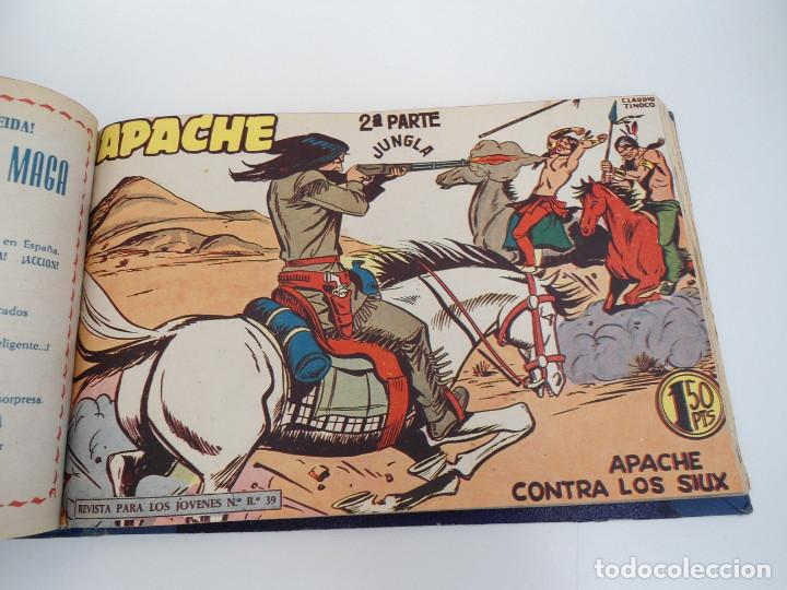 Tebeos: APACHE 2ª PARTE - 73 números correlativos ORIGINALES - Ed. MAGA 1958 - Foto 48 - 72137395