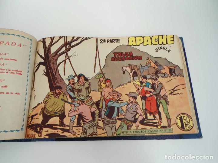 Tebeos: APACHE 2ª PARTE - 73 números correlativos ORIGINALES - Ed. MAGA 1958 - Foto 55 - 72137395