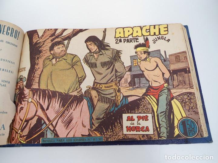 Tebeos: APACHE 2ª PARTE - 73 números correlativos ORIGINALES - Ed. MAGA 1958 - Foto 58 - 72137395