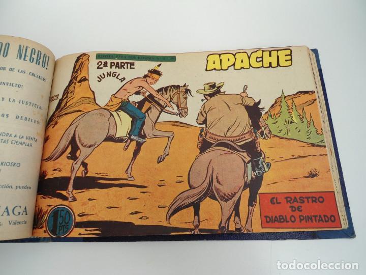 Tebeos: APACHE 2ª PARTE - 73 números correlativos ORIGINALES - Ed. MAGA 1958 - Foto 59 - 72137395