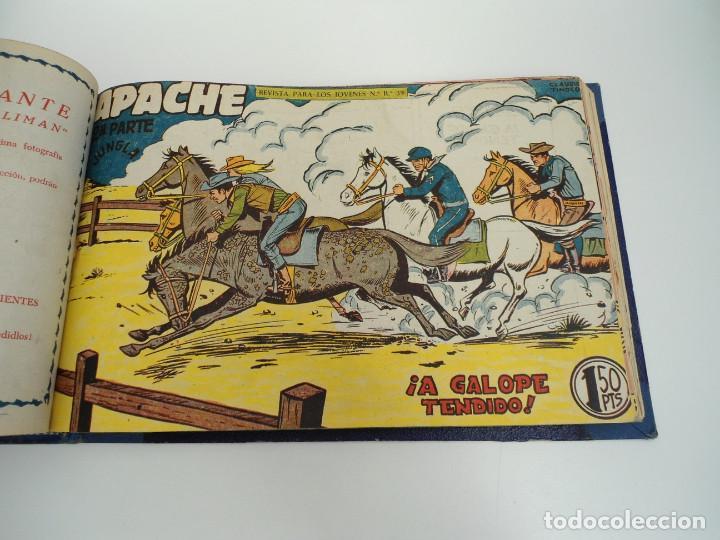 Tebeos: APACHE 2ª PARTE - 73 números correlativos ORIGINALES - Ed. MAGA 1958 - Foto 61 - 72137395