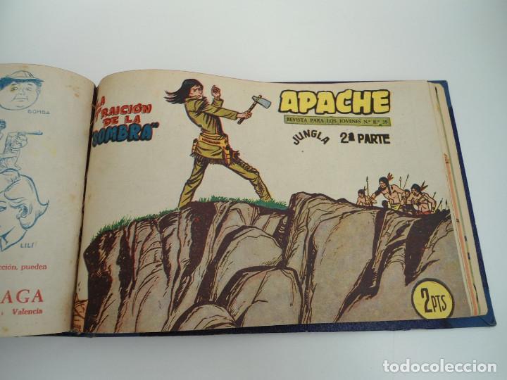 Tebeos: APACHE 2ª PARTE - 73 números correlativos ORIGINALES - Ed. MAGA 1958 - Foto 67 - 72137395