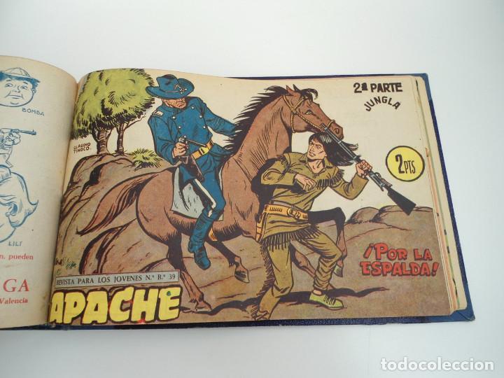 Tebeos: APACHE 2ª PARTE - 73 números correlativos ORIGINALES - Ed. MAGA 1958 - Foto 68 - 72137395
