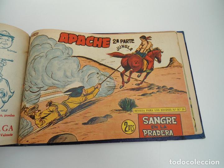 Tebeos: APACHE 2ª PARTE - 73 números correlativos ORIGINALES - Ed. MAGA 1958 - Foto 70 - 72137395