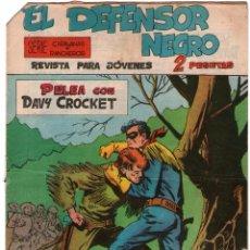 Tebeos: EL DEFENSOR NEGRO - Nº 10 - PELEA CON DAVY CROCKET - EDITORIAL MAGA - ORIGINAL 1963. Lote 74559819